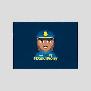 Hashtag DonutWorry Police 5'x7'Area Rug
