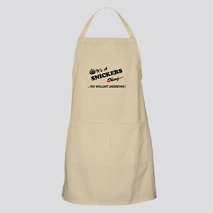 SNICKERS thing, you wouldn't understand Apron