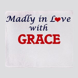 Madly in Love with Grace Throw Blanket