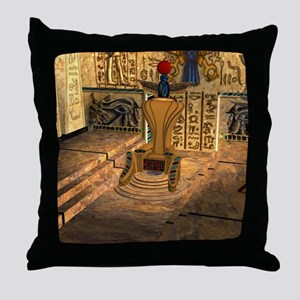 The egyp temple Throw Pillow