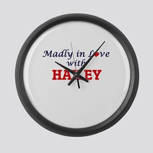 Madly in Love with Hailey Large Wall Clock