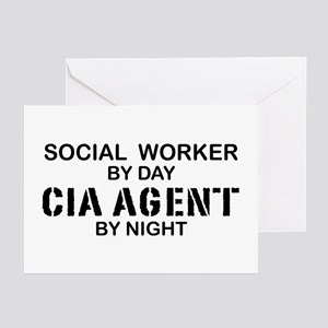 Social Workder CIA Agent Greeting Cards (Pk of 10)