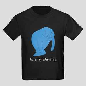 M is for Manatee Kids Dark T-Shirt