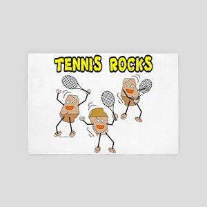 Tennis Rocks 4' x 6' Rug
