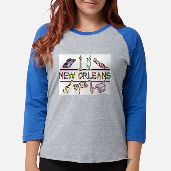 New Orleans Bead Design Long Sleeve T-Shirt