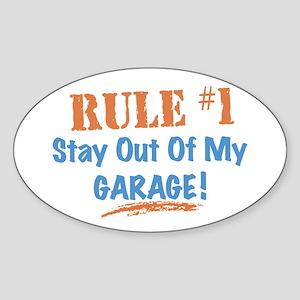 Garage Oval Sticker