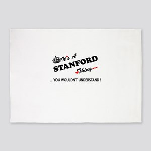STANFORD thing, you wouldn't unders 5'x7'Area Rug