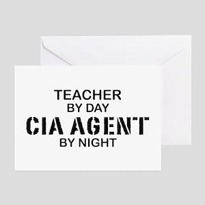 Teacher CIA Agent Greeting Cards (Pk of 10)