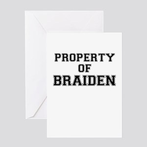 Property of BRAIDEN Greeting Cards