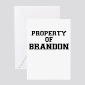 Property of BRANDON Greeting Cards