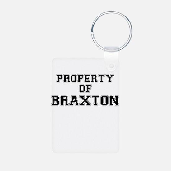 Property of BRAXTON Keychains