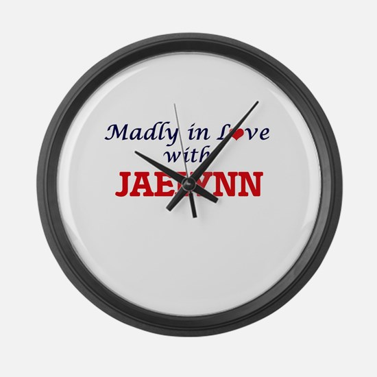 Madly in Love with Jaelynn Large Wall Clock