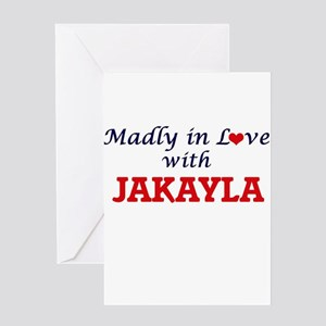 Madly in Love with Jakayla Greeting Cards