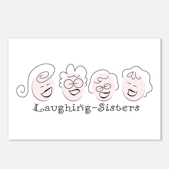Laughing-Sisters Postcards (Package of 8)
