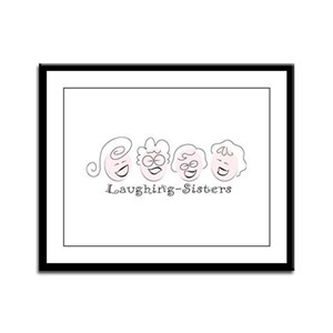 Laughing-Sisters Framed Panel Print