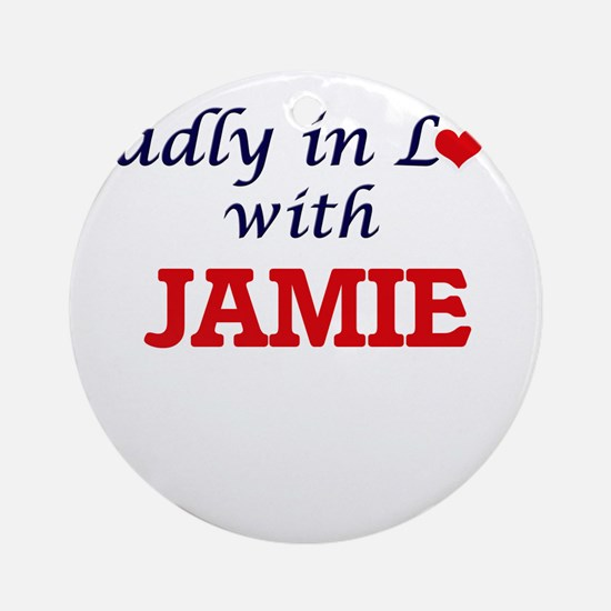 Madly in Love with Jamie Round Ornament