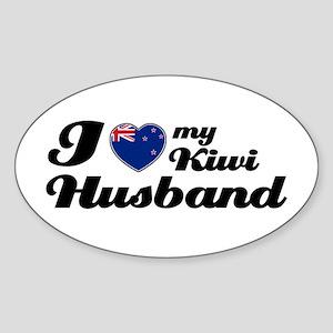 I love my Kiwi husband Oval Sticker
