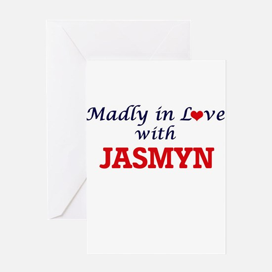 Madly in Love with Jasmyn Greeting Cards