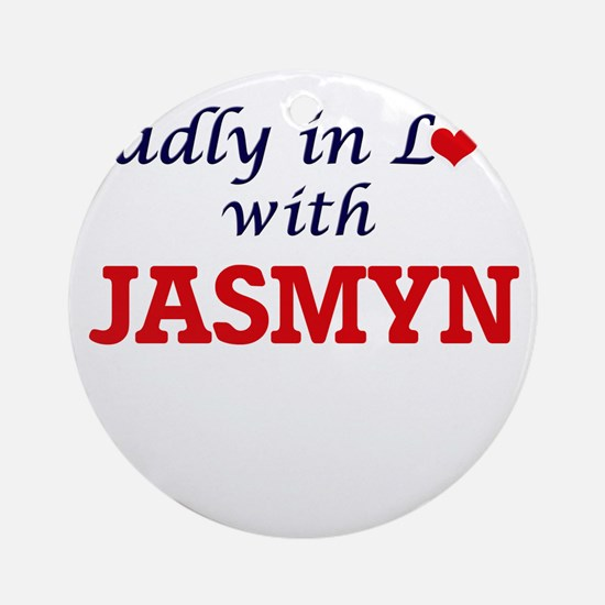 Madly in Love with Jasmyn Round Ornament
