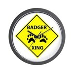 Badger Crossing Wall Clock