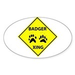 Badger Crossing Oval Sticker