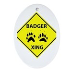 Badger Crossing Oval Ornament