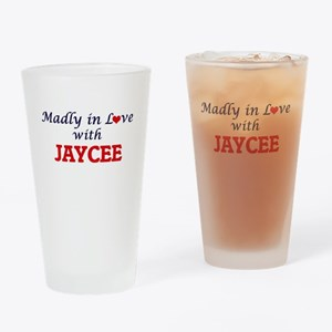 Madly in Love with Jaycee Drinking Glass