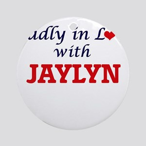 Madly in Love with Jaylyn Round Ornament