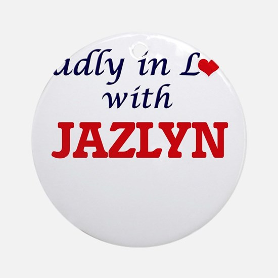 Madly in Love with Jazlyn Round Ornament