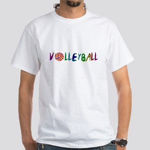 Volleyball 2 White T-Shirt