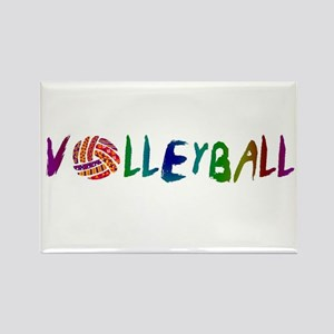 Volleyball 2 Rectangle Magnet