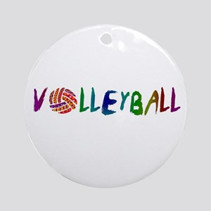 Volleyball 2 Ornament (Round)