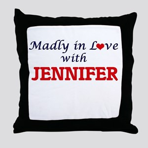 Madly in Love with Jennifer Throw Pillow