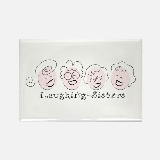 Laughing-Sisters Rectangle Magnet