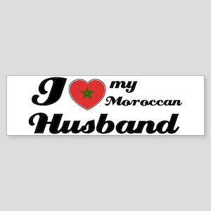 I love my Moroccan Husband Bumper Sticker