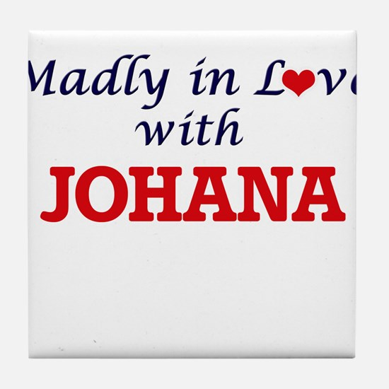 Madly in Love with Johana Tile Coaster