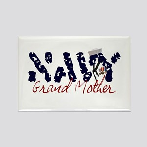 Navy Grandmother Rectangle Magnet