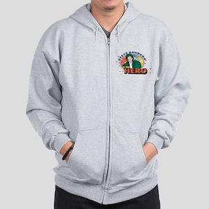 90210 Steve Sanders is my Hero Zip Hoodie