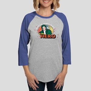 90210 Steve Sanders is my Hero Womens Baseball Tee