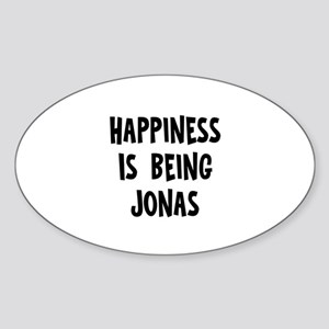 Happiness is being Jonas Oval Sticker