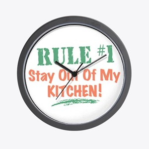 Kitchen Cook Rules Wall Clock