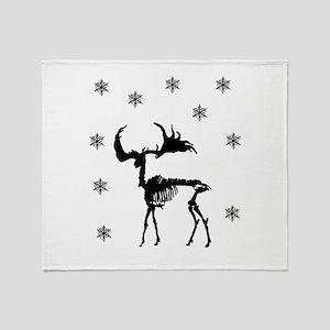 Deer Skeleton Throw Blanket