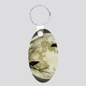 Halloween Moon Spooky Crows Keychains