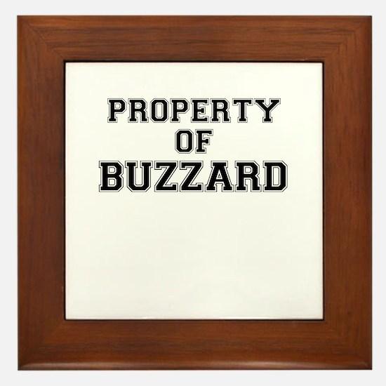 Property of BUZZARD Framed Tile