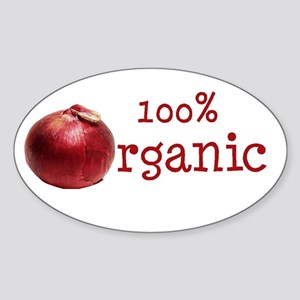 Organic Onions Oval Sticker
