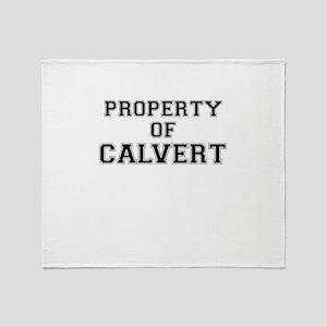 Property of CALVERT Throw Blanket