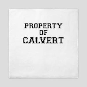 Property of CALVERT Queen Duvet