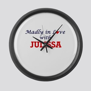Madly in Love with Julissa Large Wall Clock