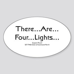 There..are..four..lights.. Oval Sticker