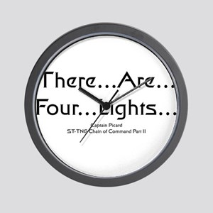 There..are..four..lights.. Wall Clock